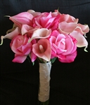 Pink NT Roses with Floramatique Callas