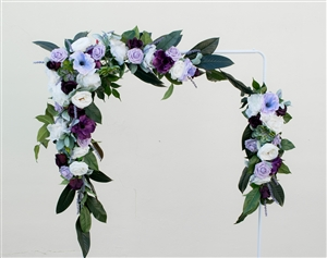 Boho Chic Rustic Succulent Boho Peonies Silk Wedding Garland for Arch, Gazebo or Table Decor