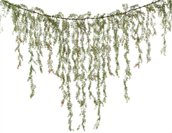 Boho Chic Rustic Cascading Greens Silk Wedding Garland for Arch