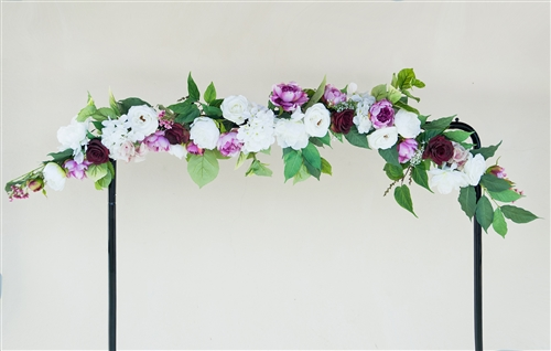 Roses and Peonies Boho Garden Flower Mix Real Touch Silk Corner or Sign Wedding Swag Arch