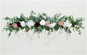 Eucalyptus Boho Garden Flower Mix Real Touch Silk Corner or Sign Wedding Swag Arch