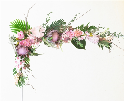Desert Theme Wedding, Succulents and Proteas Boho Garden Greenery and Flower Mix Real Touch Silk Wedding Swag Arch