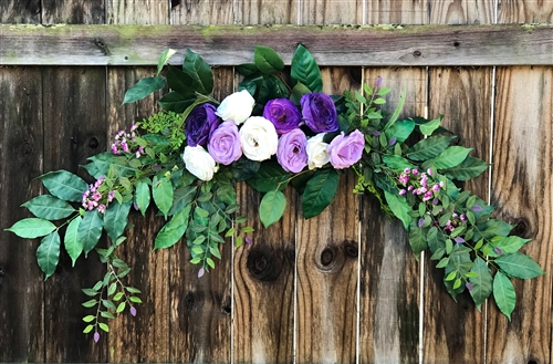 Roses and Sprays Boho Garden Greenery and Flower Mix Real Touch Silk Wedding Swag Arch