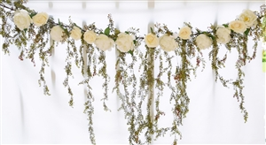 Boho Chic Rustic Cascading Greens Silk Wedding Garland for Arch, Gazebo or Table Decor