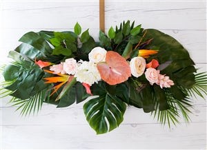 Tropical Plumerias Beach Real Touch Silk Wedding Swag Arch
