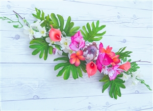 Succulent Boho Garden Corner Flower Mix Real Touch Silk Corner or Sign Wedding Swag Arch