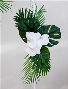 Tropical Orchid Sprays Beach Real Touch Silk Wedding Swag Arch