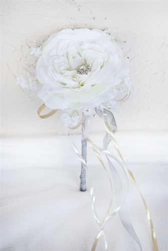 Flower Girl Bling Brooch Wand- Your Colors!