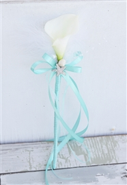 Flower Girl Calla Lily Wand Tropical Beach Wedding Basket - Your Colors!