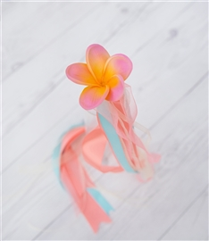 Flower Girl Plumeria Wand Tropical Beach Wedding Basket - Your Colors!