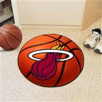 "Miami Heat Basketball Mat 29"" Diameter"