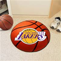 "Los Angeles Lakers Basketball Mat 29"" Diameter"