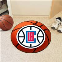 "Los Angeles Clippers Basketball Mat 29"" Diameter"