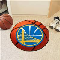 "Golden State Warriors Basketball Mat 29"" Diameter"