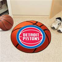 "Detroit Pistons Basketball Mat 29"" Diameter"