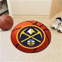 "Denver Nuggets Basketball Mat 29"" Diameter"