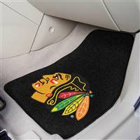 Chicago Blackhawks 2-pc Printed Carpet Car Mat Set