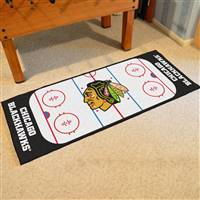 "Chicago Blackhawks NHL Rink Runner Mat, 30""x72"""