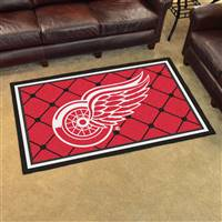Detroit Red Wings 4x6 Area Rug