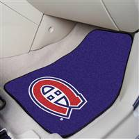 Montreal Canadiens 2-pc Printed Carpet Car Mat Set