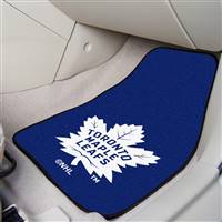 Toronto Maple Leafs 2-pc Printed Carpet Car Mat Set