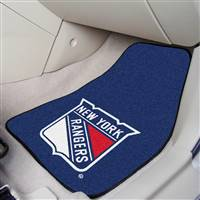 New York Rangers 2-pc Printed Carpet Car Mat Set