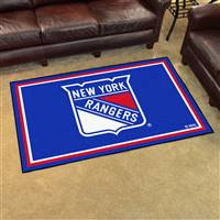 New York Rangers 4x6 Area Rug