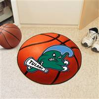 "Tulane Green Wave Basketball Rug 29"" diameter"