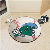 "Tulane Green Wave Baseball Rug 29"" Diameter"