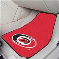 Carolina Hurricanes 2-pc Printed Carpet Car Mat Set