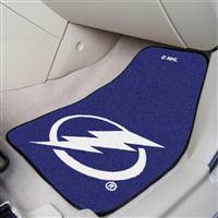 Tampa Bay Lightning 2-pc Printed Carpet Car Mat Set