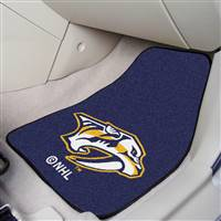 Nashville Predators 2-pc Printed Carpet Car Mat Set