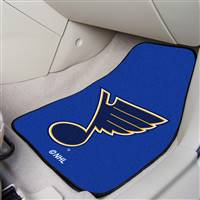 St Louis Blues 2-pc Printed Carpet Car Mat Set