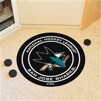 "San Jose Sharks Puck Mat, 29"" Diameter"