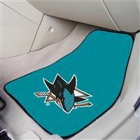 San Jose Sharks 2-pc Printed Carpet Car Mat Set