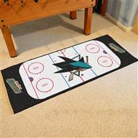 "San Jose Sharks NHL Rink Runner Mat, 30""x72"""