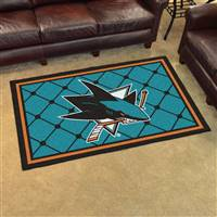 San Jose Sharks 4x6 Area Rug