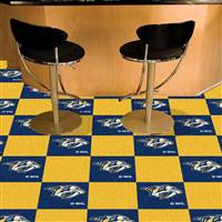 Nashville Predators 18x18 Team Carpet Tiles, Covers 45 Sq. Ft.