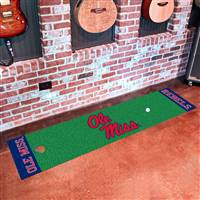 "Ole Miss Rebels Golf Putting Green Runner Mat 18""x72"""