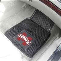 "Mississippi State Bulldogs Heavy Duty 2-Piece Vinyl Car Mats 18""x27"""