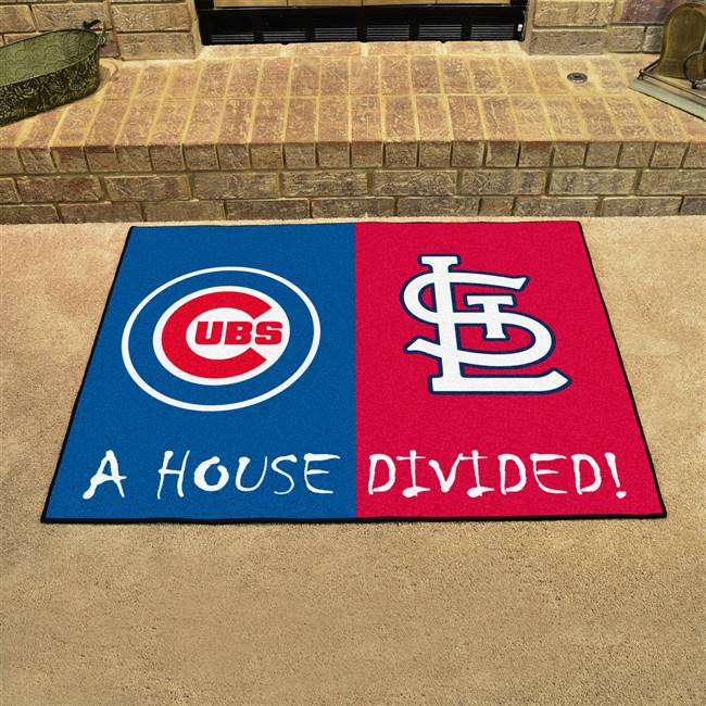 Chicago Cubs St Louis Cardinals House Divided Rug 34 Quot X45 Quot