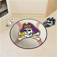 "East Carolina Pirates Baseball Rug 29"" diameter"