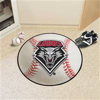 "New Mexico Lobos Baseball Rug 29"" diameter"