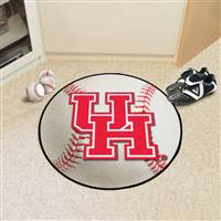 "Houston Cougars Baseball Rug 29"" diameter"