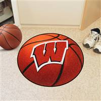 "Wisconsin Badgers Basketball Rug 29"" diameter"