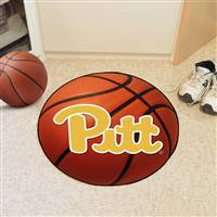 "Pittsburgh Panthers Basketball Rug 29"" diameter"