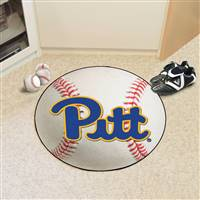 "Pittsburgh Panthers Baseball Rug 29"" Diameter"