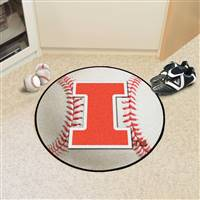 "Illinois Fighting Illini Baseball Rug 29"" Diameter"