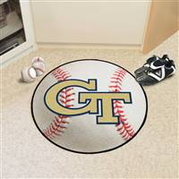 "Georgia Tech Yellow Jackets Baseball Rug 29"" Diameter"