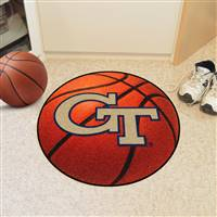 "Georgia Tech Yellow Jackets Basketball Rug 29"" Diameter"